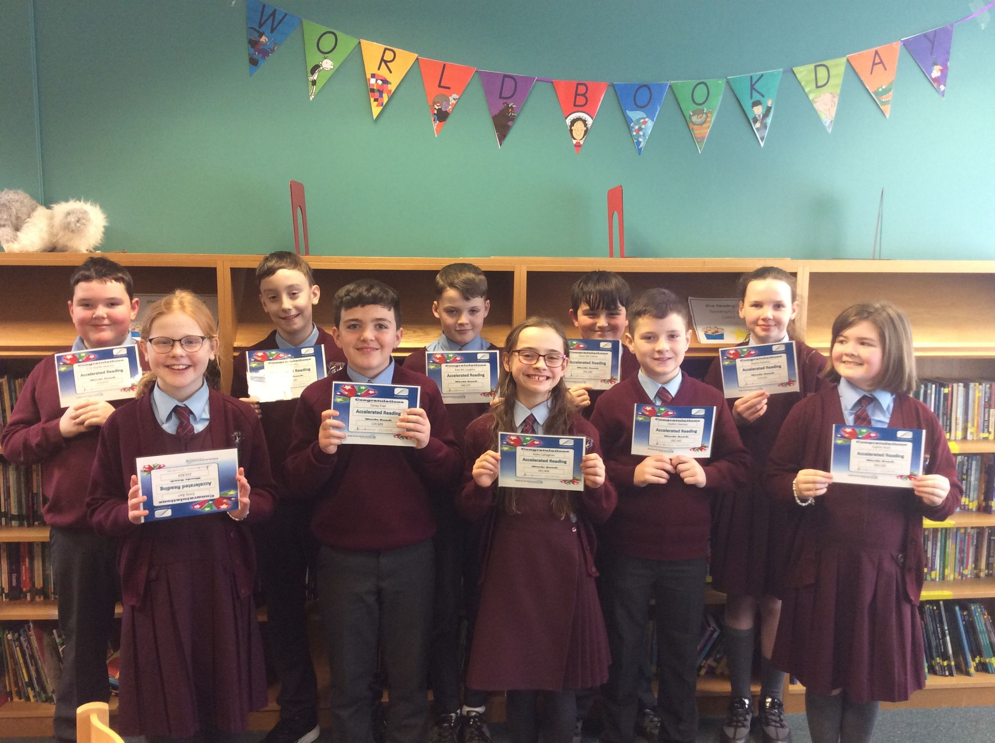 Celebrating Accelerated Reading millionaires on World Book Day
