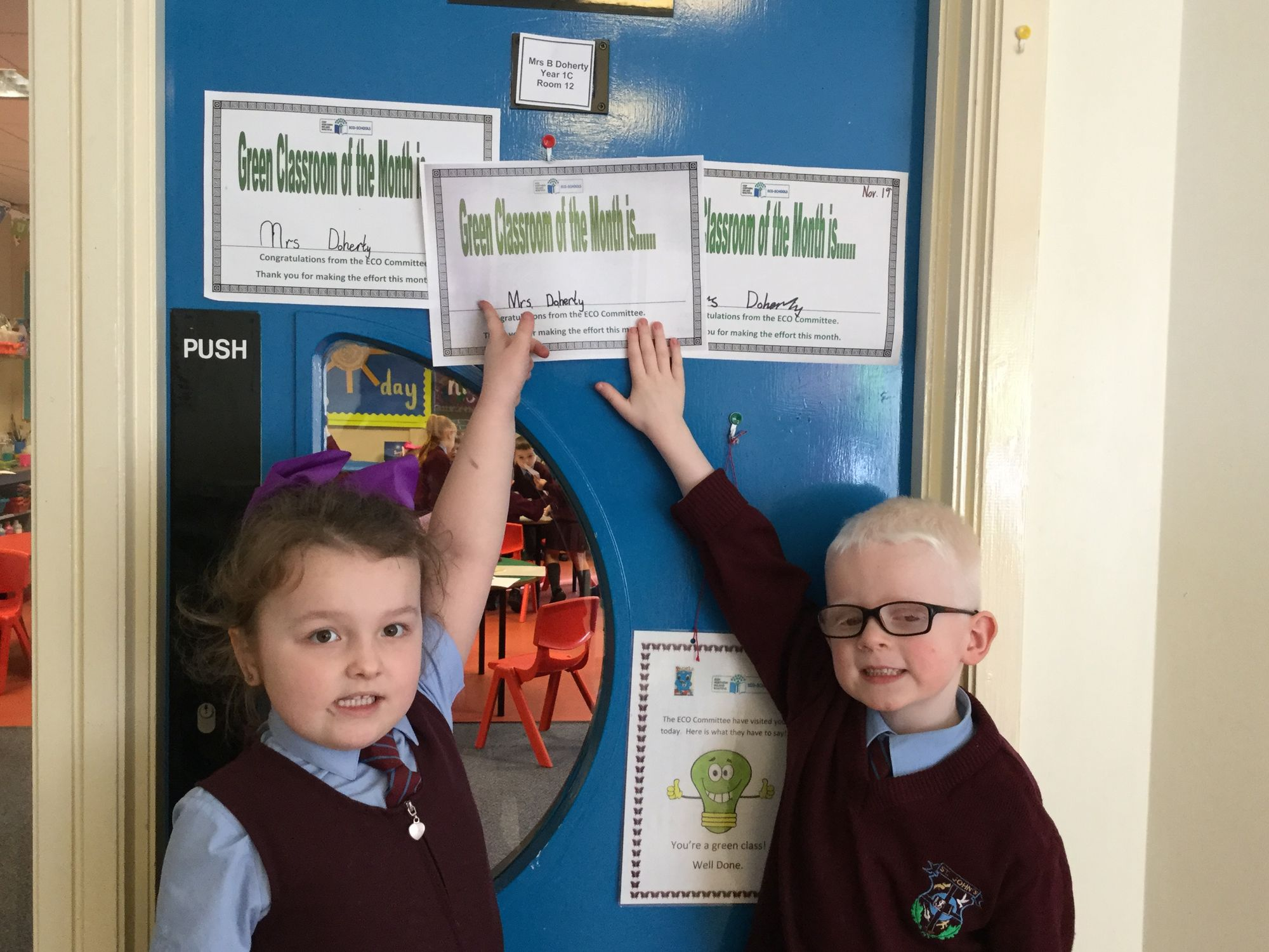 Green Classroom of the month winners