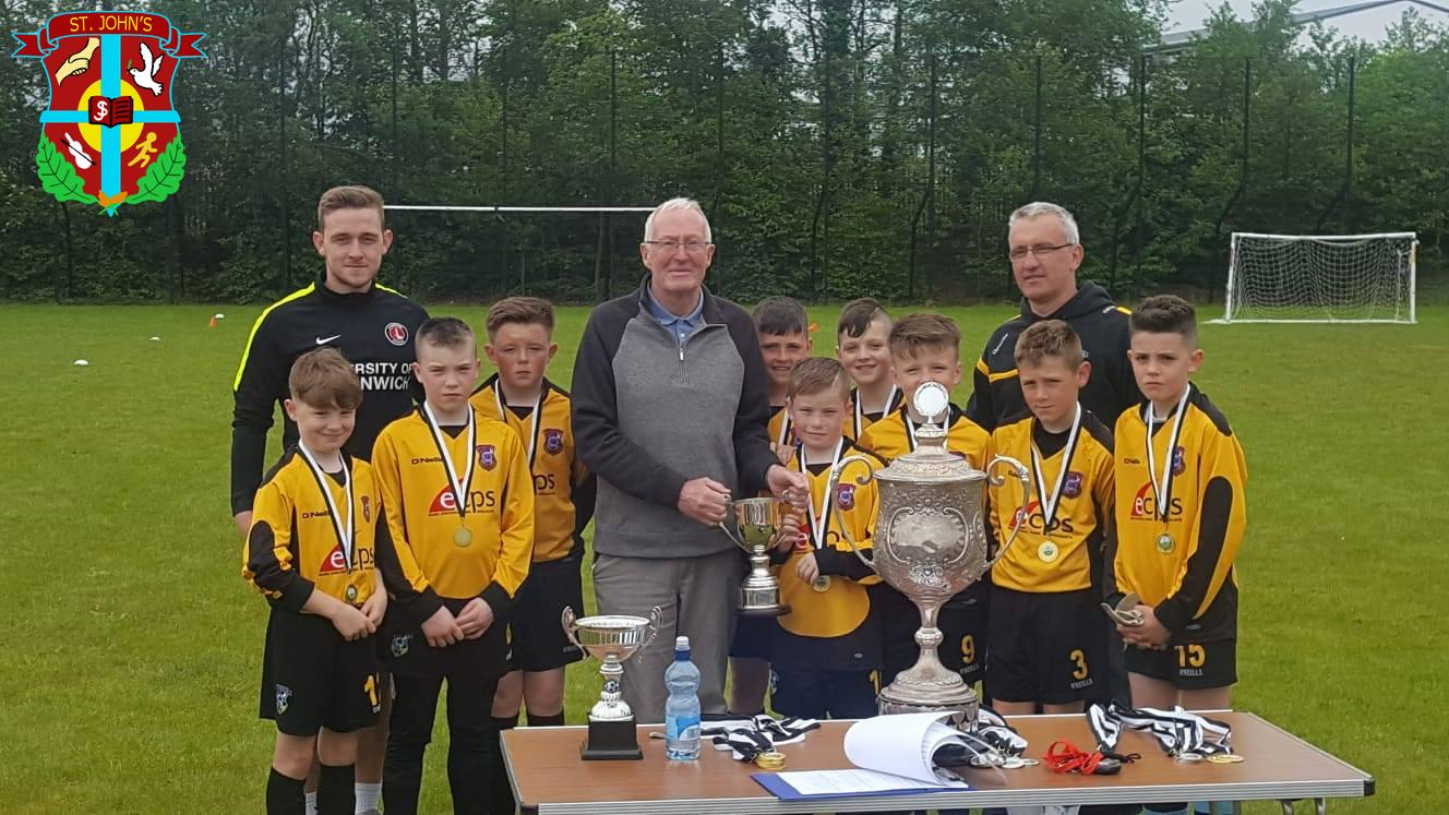 Congratulations to St.John's football team on winnning the Shield at the Derry Cup Tournament