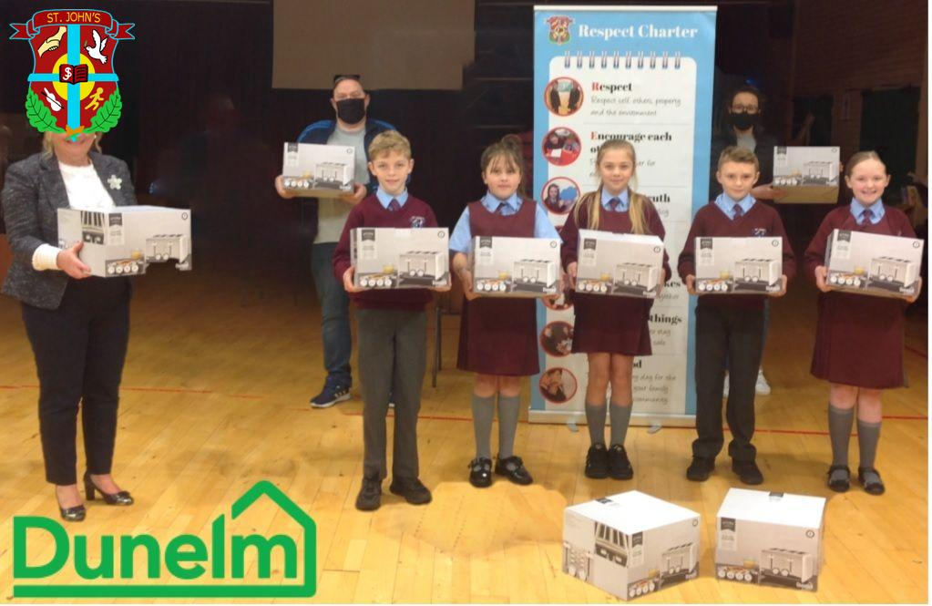 Winners of the recent Dunelm Buncrana Road competition.