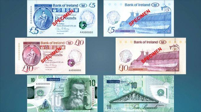 £5&£10 N.I banknotes withdrawn from circulation