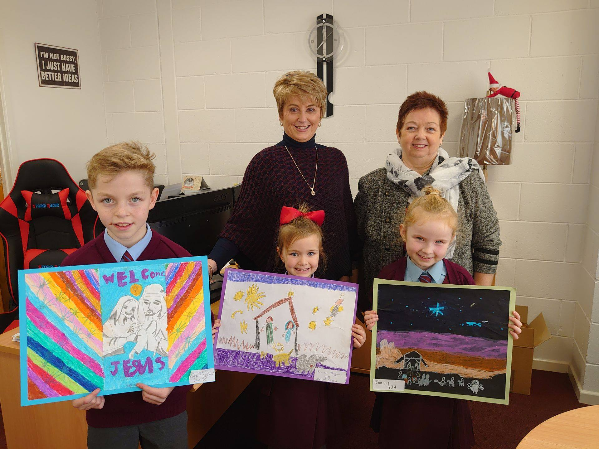 Dawn McLaughlin Nativity art competition