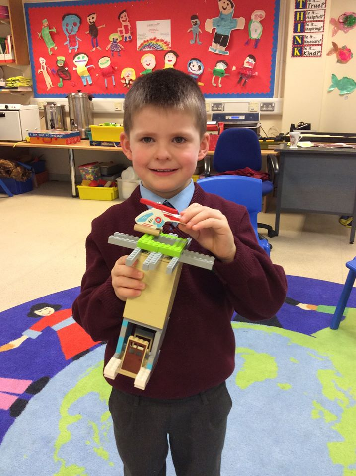 Aaron P2 and his wonderful lego helipad tower.