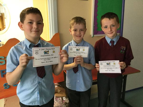 Year 3 pupils of the week