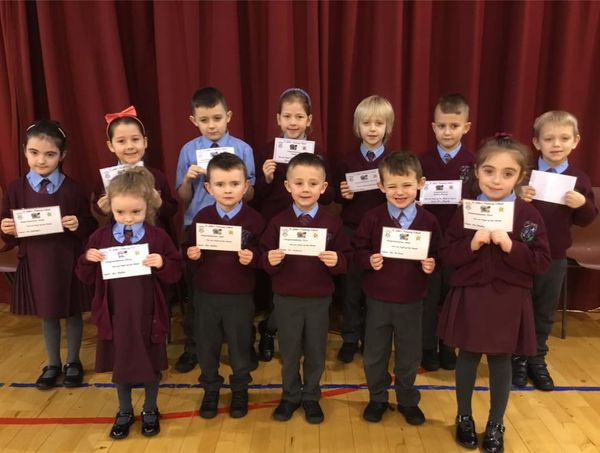Well done KS1 pupils of the week.