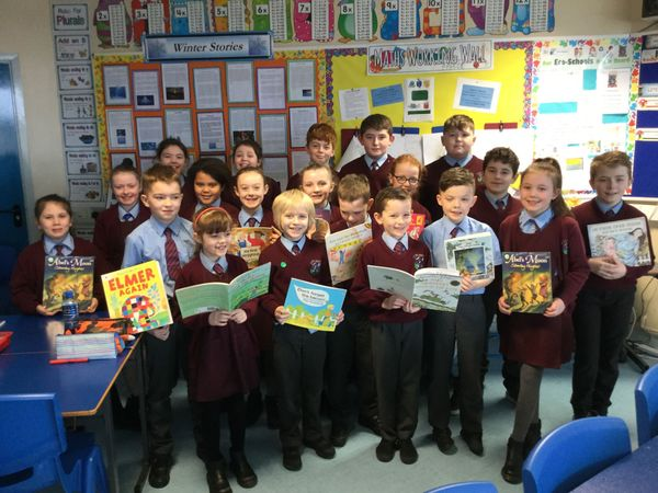 Mrs Cassidy's Class visited Year 1 & 4 children to read them stories last week. Fantastic reading!