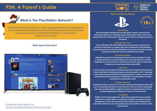 What parents need to know about the Playstation Network (PSN)
