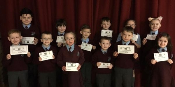 Well done to all our KS1 pupils of the week