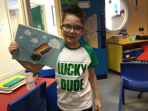 Saint Patrick's Day fun in Year 3