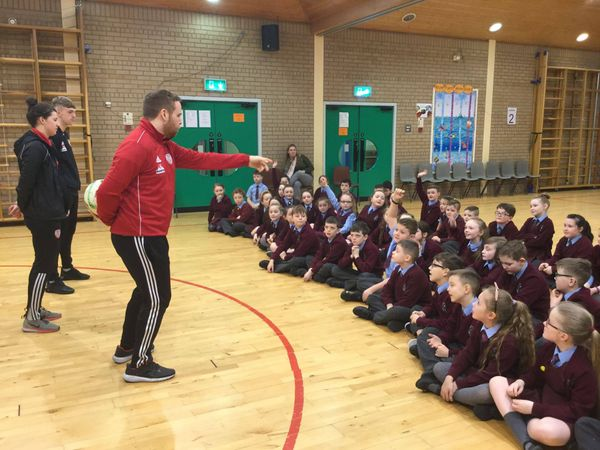 Thank you Derry City Football Club for coming in to answer questions from our Year 5 children today