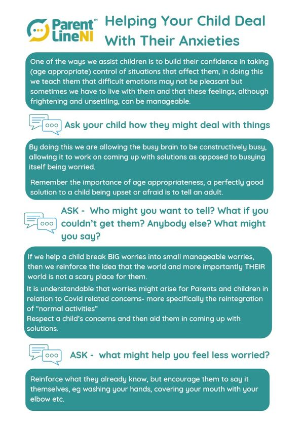 Helping your child deal with their anxieties