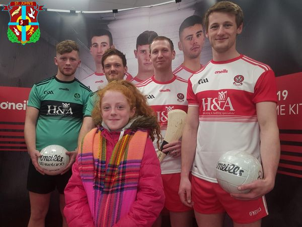 Briannagh at the launch of the New Doire GAA kit 2019  at the O'Neill's store in Waterloo Place