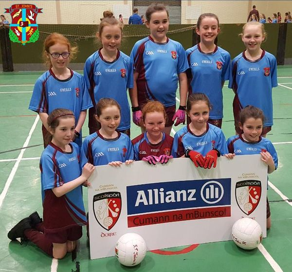 St John's Girls' team finished runners up in the Derry City Girls' Gaelic Championships