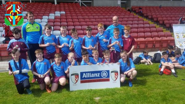 St. John's Gaelic team runners up in the Tower Cup Primary Gaelic Championship Final