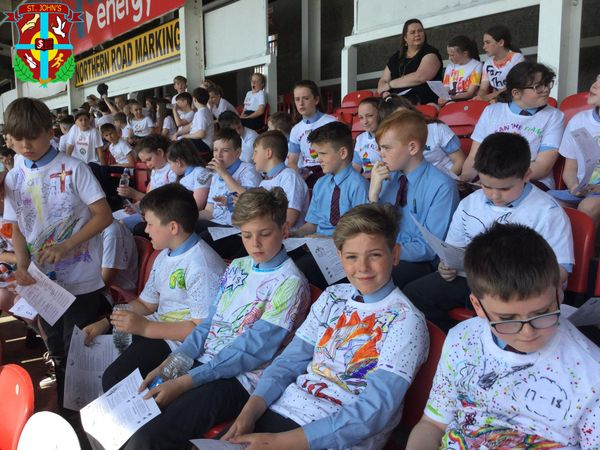 Our Year 7 pupils attended the beautiful Fan The Flame open-air Mass at Celtic Park yesterday.