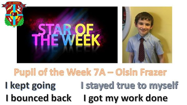 Pupil of the Week 13/11/2020